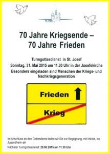 Flyer zum Gottesdienst