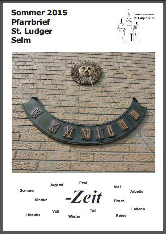 Titelblatt des Sommerpfarrbriefes