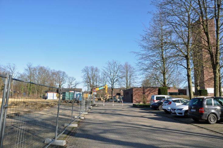 Bild der Bauarbeiten an St. Josef Selm, Kreisstr.